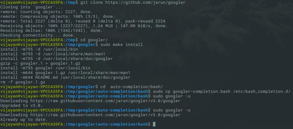 googler-installation